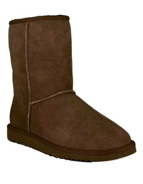 sheepskin lined boots for ugg classic sheepskin lined boots in brown lyst