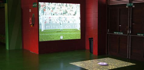 soccer interactive interactive using motion detection