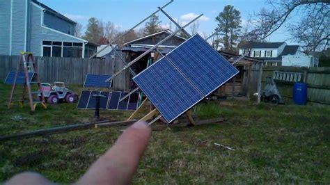 diy solar tracker mount diy tracking ground mount for 6 large panels