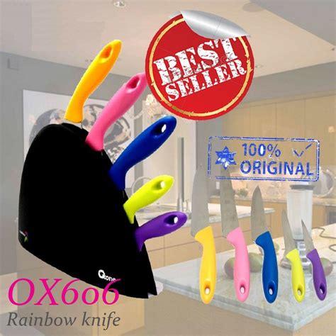 Pisau Set Bistro Pelangi 5 Pcs pisau set oxone ox 606 knife original tajam bagus harga murah