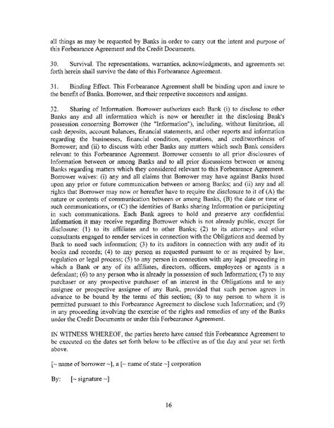 forbearance agreement template sle forbearance agreement for free page 8