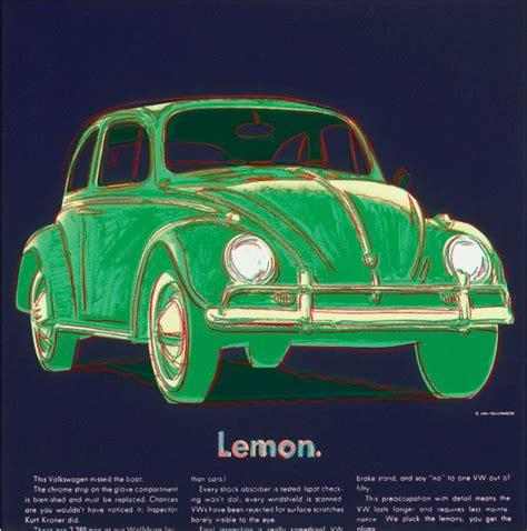 volkswagen lemon andy warhol volkswagen beetle lemon ads portfolio
