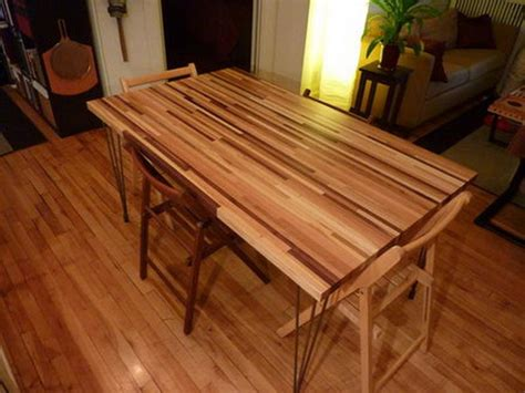 Dining Table On Wood Floor Butcher Block Dining Table With Wood Flooring Stroovi