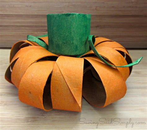Toilet Paper Pumpkin Craft - saving said simply 10 top kid crafts 2014