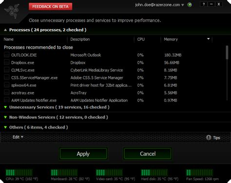 bagas31 razer game booster razer game booster performance boosting screencapture