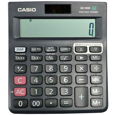 Casio Dj 120d Kalkulator Meja casio mj 120d basic 12 digit calculator original