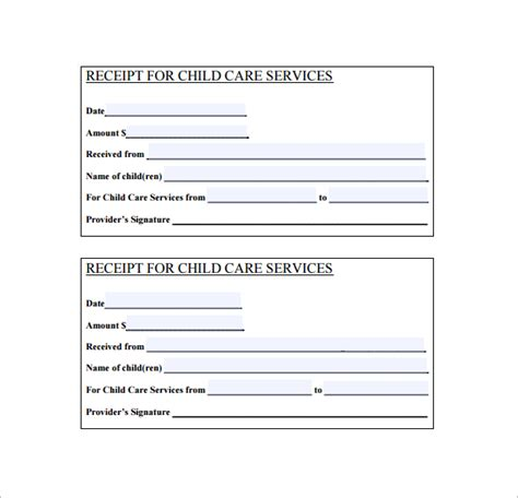 Caregiver Receipt For Services Template by 17 Service Receipt Templates Doc Pdf Free Premium