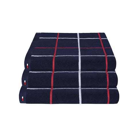 navy bath towels buy hilfiger navy checks towel bath towel amara