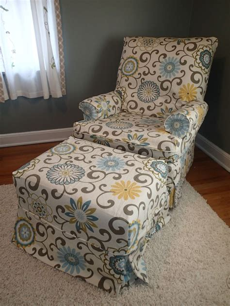 print chair slipcovers print chair and ottoman slipcovers slipcovers by