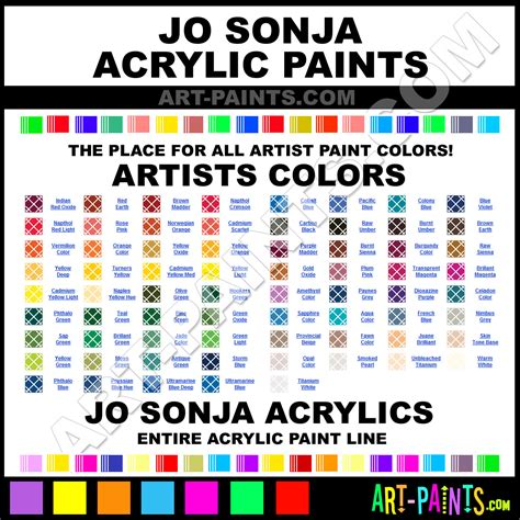 jo sonja artists colors acrylic paint colors jo sonja artists colors paint colors artists