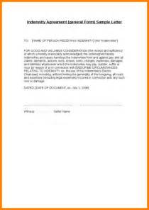 indemnification letter template letter of indemnification template docoments ojazlink