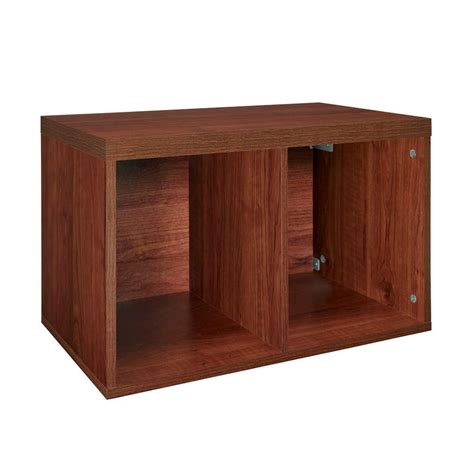 Closetmaid Home Depot closetmaid 23 3 5 in x 14 5 8 in elite cherry 2 cube organizer shop your way