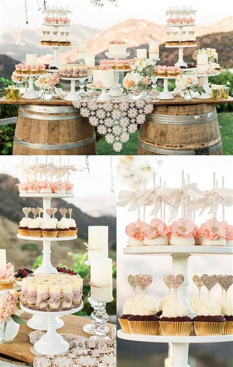 rustic wedding dessert table ideas 16 country rustic wedding dessert table ideas page 3 of