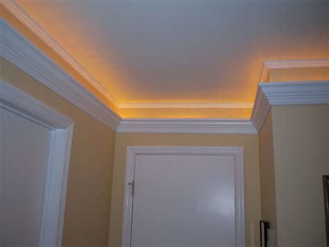ceiling light crown molding cathedral ceiling molding ideas studio design