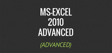 ms excel 2010 advanced tutorial video interskill it training perth ms excel 2010 advanced