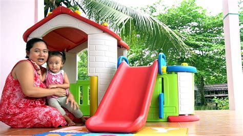 unboxing mainan anak playhouse   rumah rumahan
