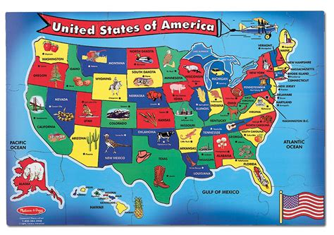 map usa puzzles free doug usa map 51 pcs floor puzzle