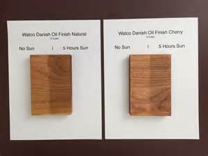 watco colors watco on cherry comparison cubist woodworker