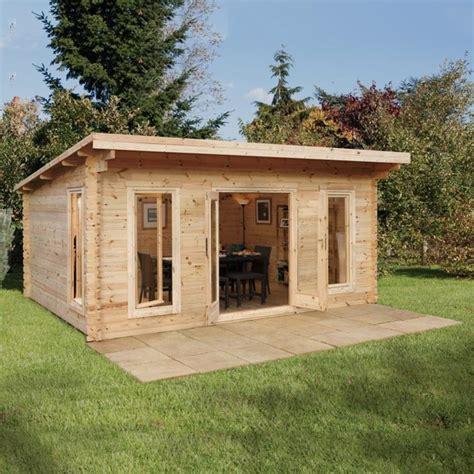 log cabin uk forest garden mendip 44mm log cabin 17ft x 13ft 1 quot 5 2 x