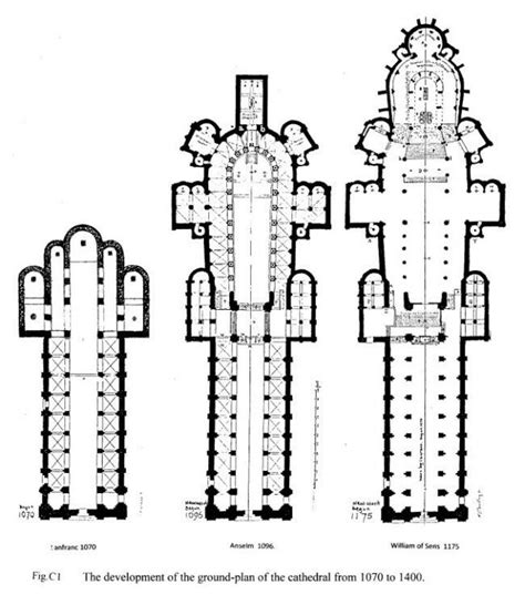 gothic cathedral floor plan canterbury cathedral england gothic choir 1174 84