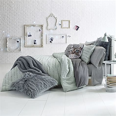glam script reversible comforter set bed bath beyond