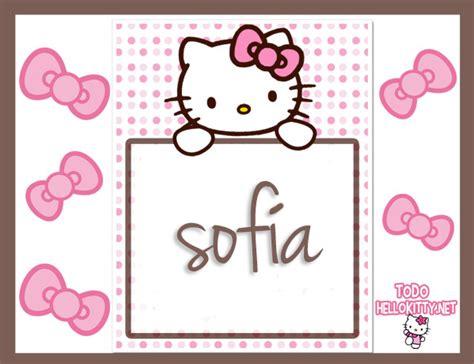 imagenes que digan sofia im 225 genes de hello kitty con nombre sof 237 a todo hello kitty
