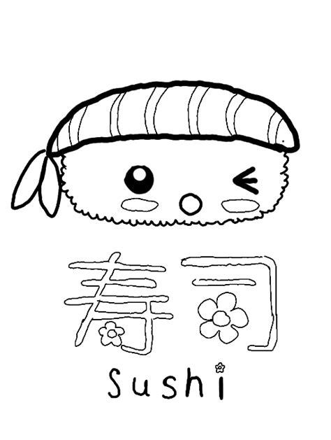 kawaii sushi coloring pages free coloring pages of kawaii food