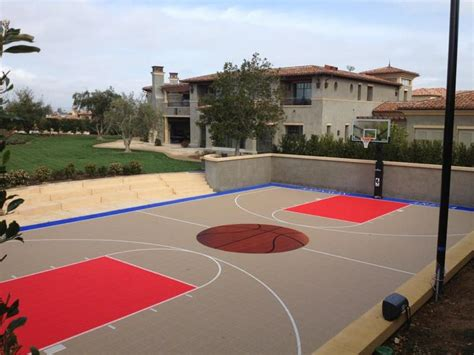 sports courts for backyards backyard basketball court hobby pinterest backyard