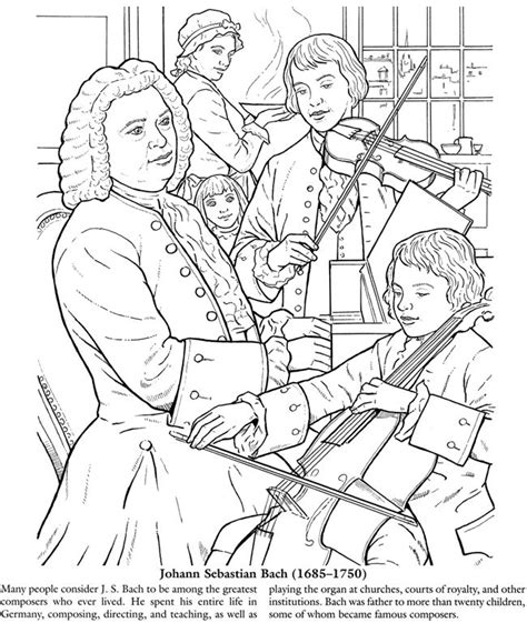 Composer Coloring Pages ah great for kindergarten and 1st grade listening