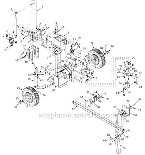 huskee log splitter parts diagram mtd 24af510b300 parts list and diagram 2003