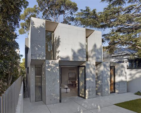 Small Concrete Sheds by Two Storey Concrete And Timber Frame House Interiorzine