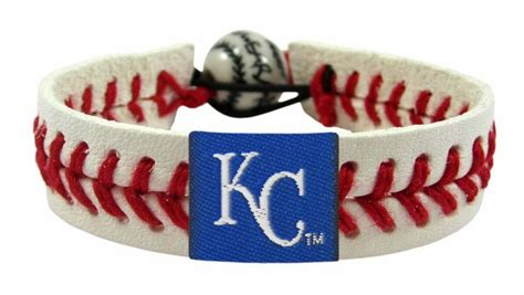 kansas city royals colors kansas city royals baseball bracelet team color style