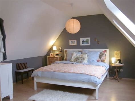 bedroom small attic bedroom design with grey wall paint and home decorating