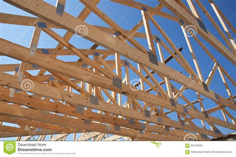 house construction stock photo image of framing roofing construction wooden roof frame house construction