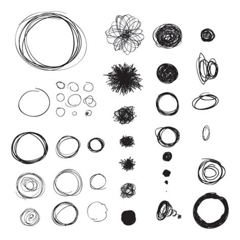 free doodle drawing circle doodles vector free