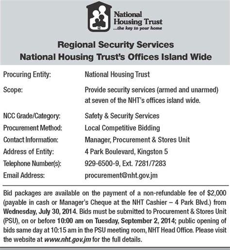 national housing trust jamaica national housing trust jamaica information service