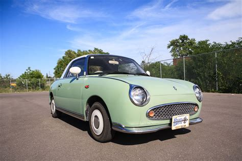 nissan figaro mint green 1991 nissan figaro rightdrive usa