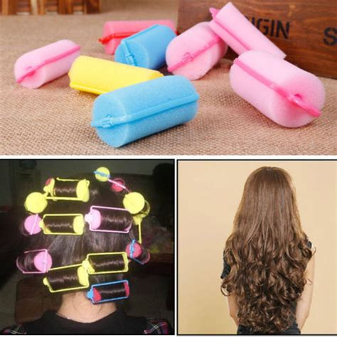 Bendy Hair Roller Sponge Isi 6 10pcs sleeping bendy hair curlers sponge hair roller large