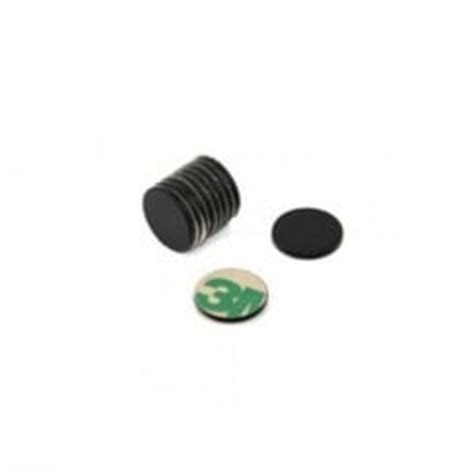 1 Pack Magnet Hitam 15 Mm adhesive 15mm dia x 1mm n42 black epoxy magnets 0 6kg pull first4magnets