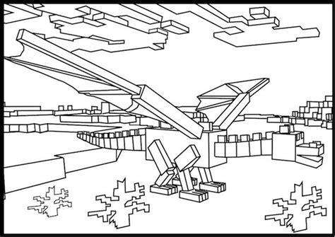 minecraft ender dragon coloring page schoolcrafts