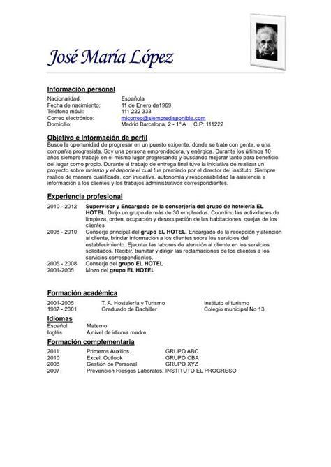 Modelo De Curriculum Vitae Profesional 2014 Modelo De Curriculum Vitae Simple Ejemplos De