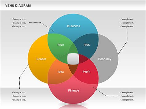 Colorful Venn Diagram For Presentations In Powerpoint And Keynote Ppt Star Venn Diagram Template For Powerpoint