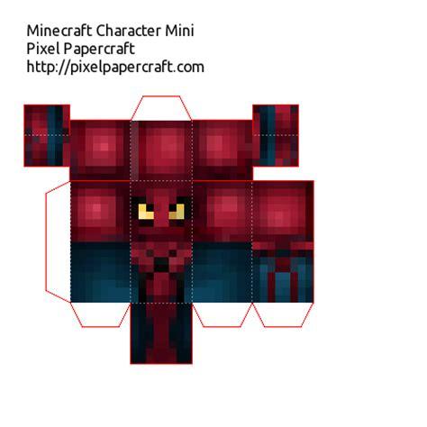 Minecraft Papercraft Spider - papercraft mini amazing fixed