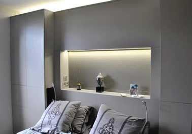 console de chambre t 234 te de lit console faite avec coffrage bois dans chambre