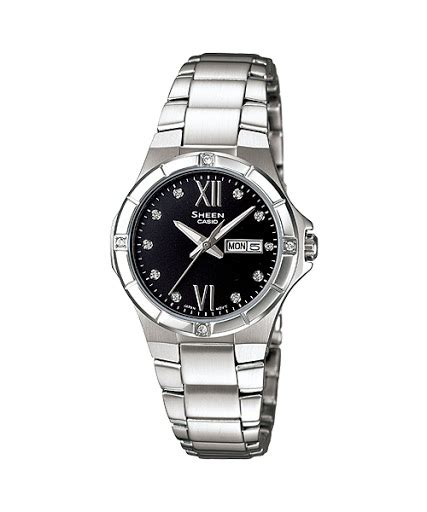 Casio Sheen She 3805b 1a Black jual casio sheen she 4022d 1a jam tangan casio sheen