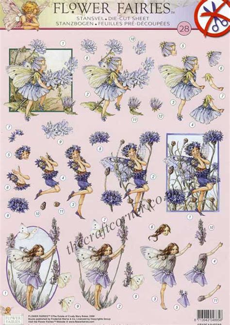 Die Cut Decoupage Sheets - flower 28 3d decoupage die cut sheet