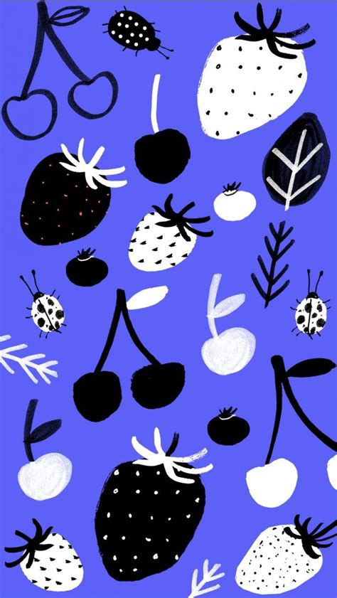 pattern lock for iphone fruit doodle pattern iphone wallpaper tap to see more