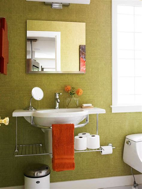 orange and green bathroom 82 best images about pedestal sink storage solutions on
