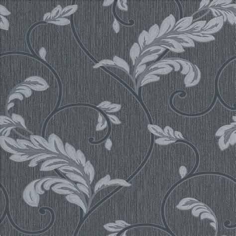rasch wallpaper rasch savoy leaf textured embossed metallic glitter wallpaper 308044