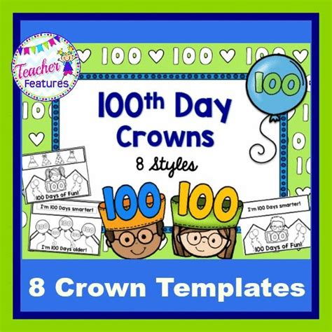 100th day crown template 170 best 100th day images on pay